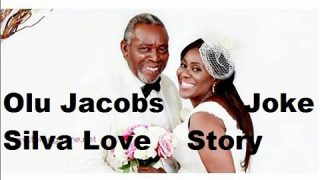 Olu Jacobs and wife